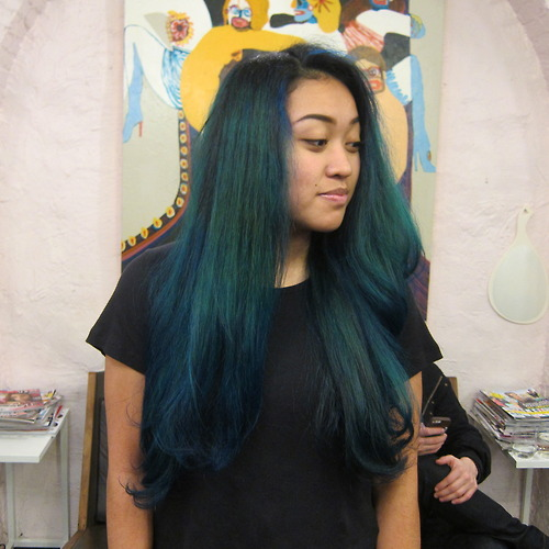 Blue Long Hair Best Manic Panic Color Salon Nyc 10014