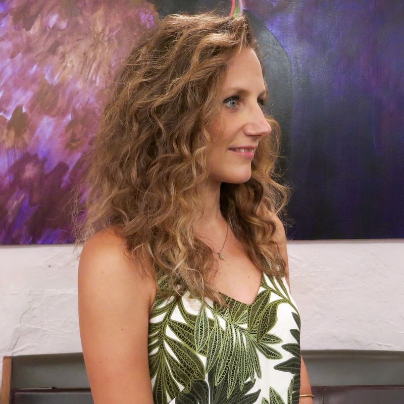 Natural Balayage Highlights On Curly Hair Salon Nyc Downtown