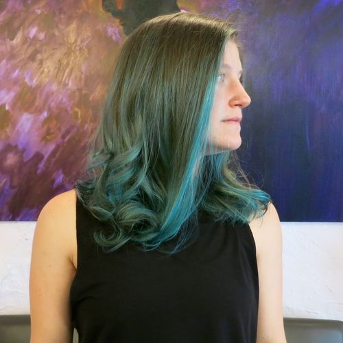 Green-ombre-balayage-hair-salon-downtown-nyc