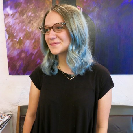 Pastel-blue-balayage-hand-painted-highlights-salon-donwtonw-nyc